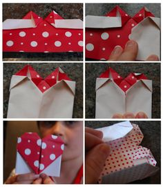 how to create origami valentines