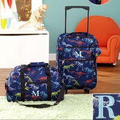 Luggage for Kids Boys Set Small Rolling Suitcase Duffel Bag Dinosaur Letter  R c77ec0080ef76