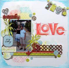 LOVE by Emilia van den Heuvel {Guest Designer for Faber-Castell Design Memory Craft}