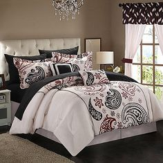 Chic Home Olivia Paisley 20-Piece Reversible Comforter Set