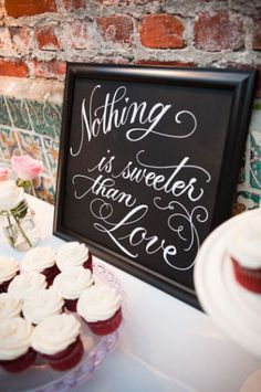 Cute sign for a wedding reception or bridal shower