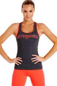 9e2721b1fa Lornajane.com.au Determined Tank with Orange sports bra and tights. All  Lorna
