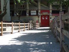 Vallado en el callejón de la plaza de toros Pamplona