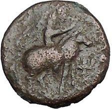 VIMA TAKTO Soter Megas on Horse Indo Kushan Empire in India Greek Coin i50539