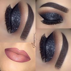 """""""Throwback Thursday #tbt @eyekandycosmetics glitter in black bartiv been really slacking with makeup looks since the holidays !! Will be sharing some of…"""""""
