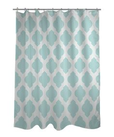 Take a look at this Aqua Moroccan Shower Curtain by OneBellaCasa on #zulily today!