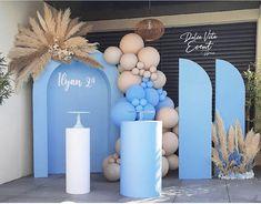 Balloon Backdrop, Balloon Centerpieces, Balloon Decorations Party, Backdrop Decorations, Balloon Garland, Baby Shower Decorations, Wedding Backdrop Design, Wedding Stage Design, Birthday Goals