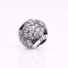 Pioggia di stelle luminosa con zirconi chiari 100% argento sterling 925 adatta misure Pandora charm Pandora bead Braccialetto europeo JBE039 di OceanBijoux su Etsy