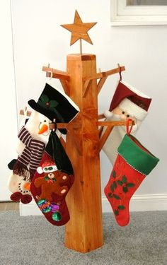 Nice This Stocking Tree Was Made To A Request From A Close Friend. The Tree Holds