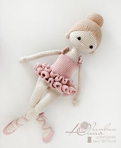 Doll Patterns Free, Crochet Dolls Free Patterns, Knitting Patterns, Crochet Doll Tutorial, Diy Crochet Doll, Crochet Instructions, Crochet Mignon, Ballerina Doll, Ballerina Project