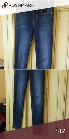 Skinny jeans Blue skinny jeans/ mid rise, size 3/ barely used! American Rag Jeans Skinny