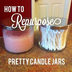 Southern Grace: How to Repurpose Pretty Candle Jars thesoutherngraceblog.blogspot.com
