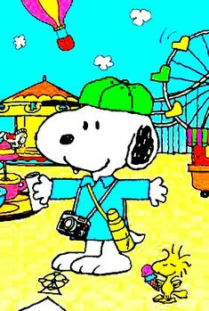 Snoopy and Woodstock at the Fair