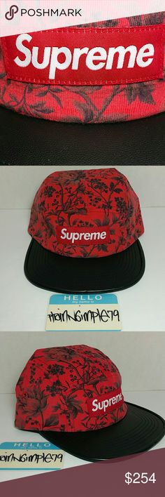 2940e376c34 SUPREME Liberty Pinwale Cord Leather Camp Cap For sale is F W 2012 SUPREME  Liberty