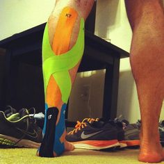 KT Tape Pro calf and achilles combo