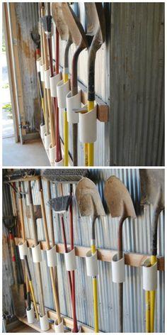 DIY PVC Tool Garage Storage Organization Project