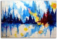 Saatchi online artist: Asma Kazi | Wildfire | Acrylic on Canvas | 24x36 in