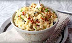 Lekker! Een pastasalade die naar gevulde eieren smaakt? - Zelfmaak ideetjes Pasta Recipes, Salad Recipes, Potato Salad, Salads, Bbq, Brunch, Food And Drink, Menu, Snacks