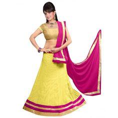 Bollywood Replica -  Navratri Special Yellow Lehenga Choli - 60143