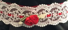 Items similar to Lace Lolita Choker Necklace on Etsy Red Lace, My Etsy Shop, Chokers, Check, Accessories, Fashion, Red Ribbon, Moda, La Mode