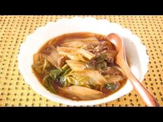 Tasty Simmered Pork and Chinese Cabbage Recipe - Video Recipe Asian Recipes, My Recipes, Cooking Recipes, Healthy Recipes, Ethnic Recipes, Cooking Hacks, Eat Happy, Chinese Cabbage, Leftovers Recipes