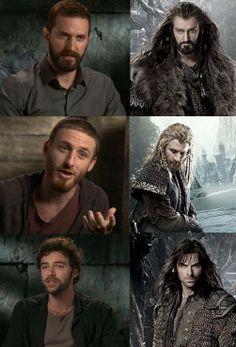 Thorin, Fili and Kili. Richard, Dean and Aidan. :)