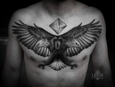 Tattoos by Ien Levin, via Behance  (the geometric shape is not so great…but the eagles are)