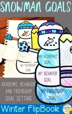 Help students set academic, behavior, and friendship goals with this quick and easy flip book!