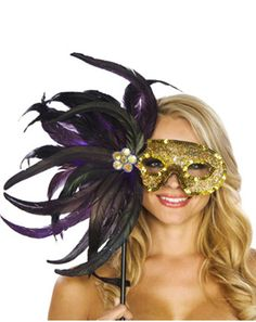Mardi Gras mask for Mardi Gras themed stagette