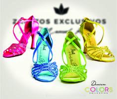Zapatos de baile Desirée Colors Collection . Zapatos de Baile Reina . Hechos a mano . Made In Spain