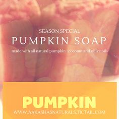 Coconut and olive oil based, this soap is made with 100% pumpkin and is perfect as a face bar. For the season we are making this bar available for only $3! Check this bar out and our other handmade...