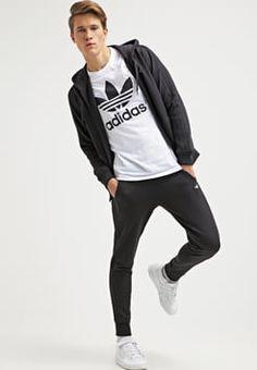 adidas Originals - T-shirt z nadrukiem - white