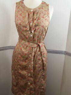 Talbots Paisley, Tie Belted, Sundress, Cotton Blend, size 8   #Talbots #Sundress #Casual