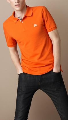Polo shirts polos and men 39 s polo shirts on pinterest for Mens orange polo shirt