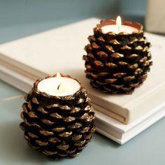 Basteln mit Tannenzapfen Kerzenideen Mehr