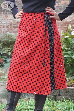 Reversible wrap skirt free pattern