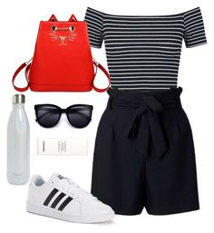 """sightseeing"" by nori-nagy on Polyvore featuring Miss Selfridge, Charlotte Olympia, adidas, S'well and Chanel"