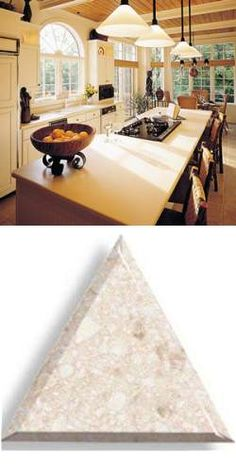 www.oldhouseweb.com Solid acrylic countertops are a great way to go for old homes.