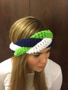 12th Man Seahawks Ear Warmer by CrochetMeKnots2 on Etsy