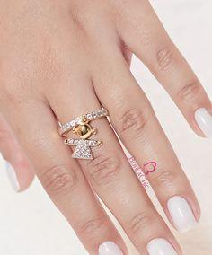 Anel Menina Semijoia Banhada a Ouro 18k  #semijoias #anel #brilho #glamour #moda #filhos #lojaonline #brasília