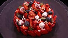 - Mousse griotte- Fruits rouges- Réalisation