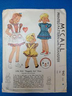 Vintage 1940's McCall Printed Pattern 942 // by ElkHugsVintage, $29.00