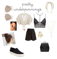"""""""Pretty underpinnings"""" by mayraflores534 on Polyvore featuring Charlotte Russe, Miguelina, Apiece Apart, Candie's, Witchery, Christian Dior, Rosantica, Natalie B, Luv Aj and Pin Show"""