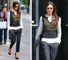 Victoria Beckham knit vest - Fash Fave Fash Boulevard