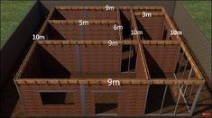Small House Layout, House Layout Plans, Small House Design, House Layouts, House Front Design, Mini House Plans, Simple House Plans, Family House Plans, House Floor Plans
