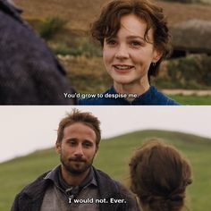 """""""I'm too independent for you. If I ever were to marry I'd want someone to tame me, and you'd never be able to do it."""" - Far From The Madding Crowd (2015)"""