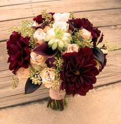 burgandy and blush wedding arrangement - Google Search