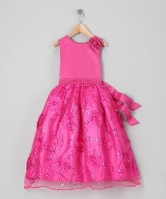 This Fuchsia Sequin Dress - Toddler by Tip Top Kids is perfect! #zulilyfinds