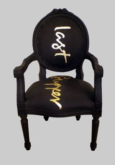 Golden words. I've repinned this from Chelli Godiva and it's is well worth following her board 'Dare to Be This Chair' if you love incredible chairs.
