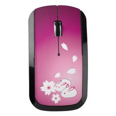 Japanese Snow Rabbits and Sakura Wireless Mouse